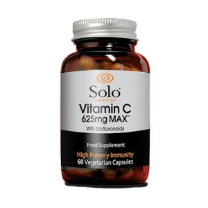 Solo Vitamin C 625mg Max with Bioflavonoids 60 Vegetarian Capsules