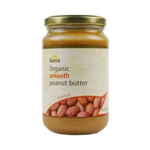 Suma Organic Smooth Peanut Butter unsalted 340g
