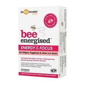 Unbeelievable Health Bee Energised Energy & Focus 20 Capsules