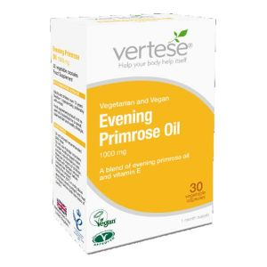 Vertese Evening Primrose Oil 1000mg 30 Vegetarian Capsules