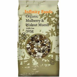 Infinity Foods Organic Gluten Free Mulberry & Walnut Muesli