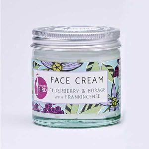 Laughing Bird Elderberry & Borage Face Cream (with Frankincense) 60ml