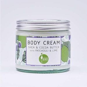 Laughing Bird Shea & Cocoa Butter Body Cream (with Patchouli & Lime) 250ml