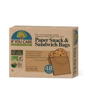 If You Care Paper Snack & Sandwich Bags Totally Chlorine Free (TCF)