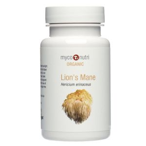 Myco-Nutri Organic Hericium ( Lion's Mane ) Mushroom Supplement 500mg 60 Capsules
