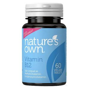 Natures Own Vitamin B12 Sub-lingual Methylcobalamin 500ug (Vegan)