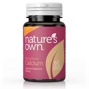 Natures Own Wholefood Calcium 60 Vegan Capsules