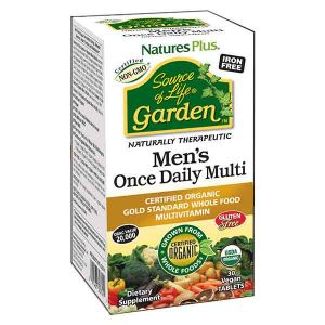 Natures Plus Source of Life Garden Organic Mens Multi 30 tablets