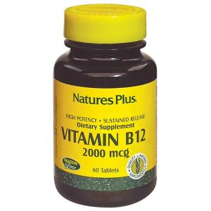 Natures Plus Vitamin B12 2000mcg 60 Sustained Release Tablets