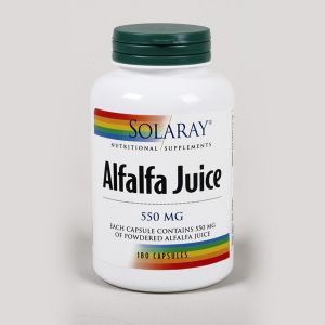 Solaray Alfalfa Juice 550mg 180 Capsules