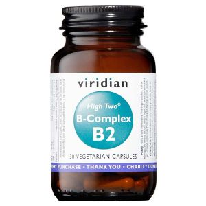 Viridian High Two B-complex B2 30 Vegetarian Capsules