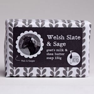 Laughing Bird Slate & Sage Soap (with Shea Butter & Goat's Milk) 150g