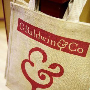 Baldwins Large Printed Fabric Shopping Bag.