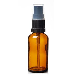 Alpha Amber Glass Bottles With Lotion Pump 30ml