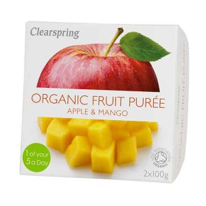 Clearspring Organic Fruit Puree Apple and Mango 2x100g