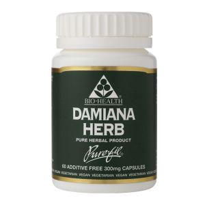 Bio-health Damiana Herb 300mg 60 Vegetarian Capsules