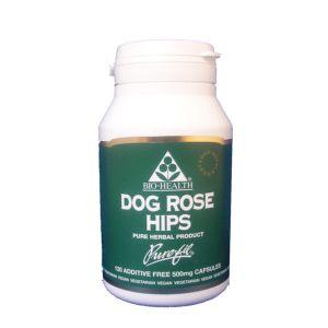 Bio-health Dog Rosehips 500mg 120 Vegetarian Capsules