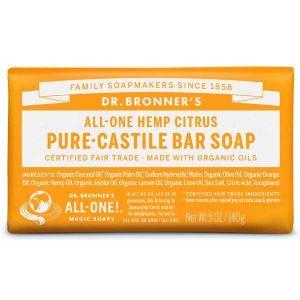 Dr Bronner Magic Soap Citrus Orange 140g Bar