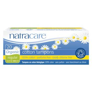 Natracare Organic All Cotton Digital Tampons X 20 (regular)