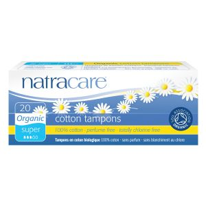 Natracare Organic All Cotton Digital Tampons X 20 (super)