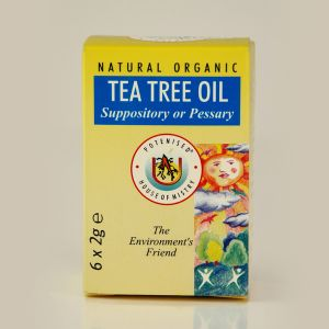 Natural Tea Tree Oil Suppository Or Pessary 6x2gs