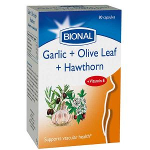 Bional Garlic, Olive And Hawthorn Berry 80 Vegetarian Capsules