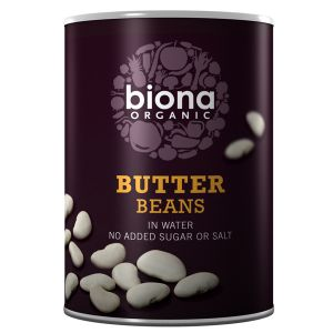 Biona Organic Canned Butter Beans 400g