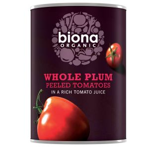 Biona Organic Canned Whole (peeled) Plum Tomatoes 400g