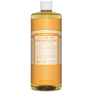 Dr Bronner Citrus Orange Pure Castille Liquid Soap 944ml