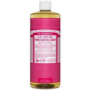 Dr Bronner Rose Pure Castille Liquid Soap 944ml