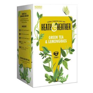 Heath And Heather Organic Green Tea And Lemongrass 50 Tea Bags