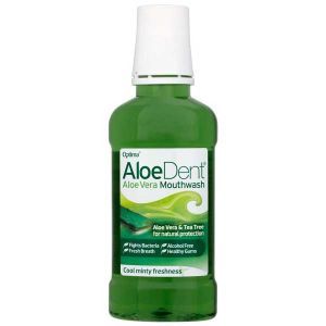 Optima AloeDent Aloe Vera Mouthwash Flouride Free 250ml
