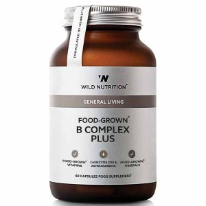 Wild Nutrition General Living Food-Grown B Complex Plus 60 Capsules