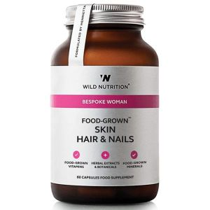 Wild Nutrition Bespoke Woman Food-Grown Skin Hair & Nails 60 Capsules