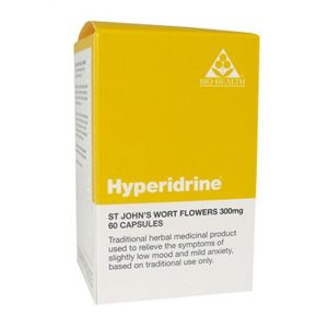 Bio-health Hypereridrine (formerly St. Johns Wort) 300mg 60 Vegetarian Capsules