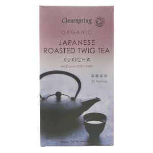 Clearspring Organic Kukicha Japanese Roasted Twig Tea 20 Teabags