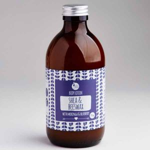 Laughing Bird Shea & Beeswax Body Lotion (with Moringa & Blueberry) 300ml