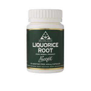 Bio-health Liquorice Root 400mg 60 Vegetarian Capsules