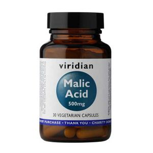 Viridian Malic Acid 500mg 30 Vegetarian Capsules