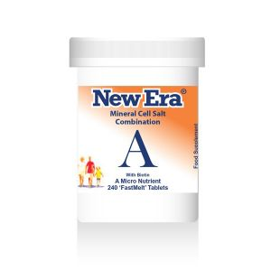 New Era Mineral Cell Salts Combination A 240 'fastmelt' Tablets
