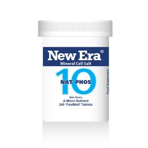 New Era Mineral Cell Salts No.10 Nat Phos (sodium Phosphate) 240 'fastmelt' Tablets