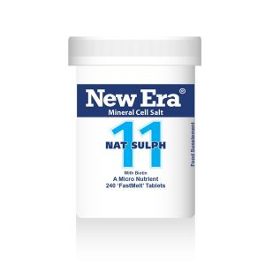 New Era Mineral Cell Salts No.11 Nat Sulph 240 'fastmelt' Tablets