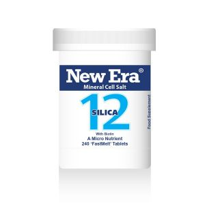 New Era Mineral Cell Salts No.12 Silica (silicon Dioxide) 240 'fastmelt' Tablets