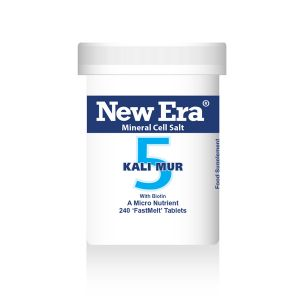 New Era Mineral Cell Salts No.5 Kali Mur (potassium Chloride) 240 'fastmelt' Tablets