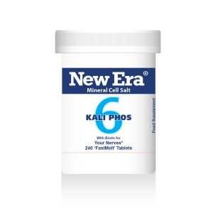 New Era Mineral Cell Salts No.6 Kali Phos (potassium Phosphate) 240 'fastmelt' Tablets