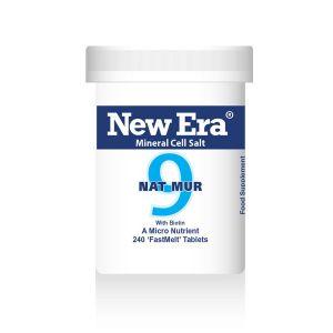 New Era Mineral Cell Salts No.9 Nat Mur (sodium Chloride) 240 'fastmelt' Tablets