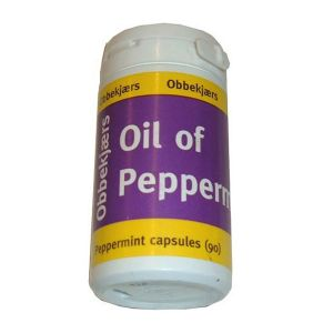 Obbekjaers Oil Of Peppermint 90 Capsules