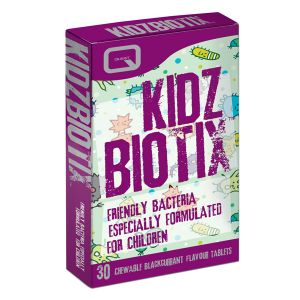 Quest Kidz Biotix 30 Vegan Chewable Blackcurrant Flavour Tablets