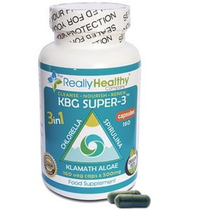 The Really Healthy Company Kbg Super-3 500mg 160 Vegetarian Capsules