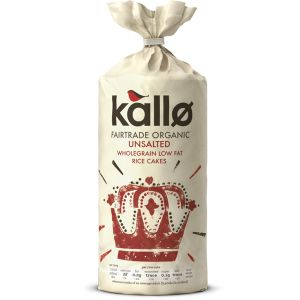 Kallo Organic Wholegrain Rice Cakes Plain Unsalted